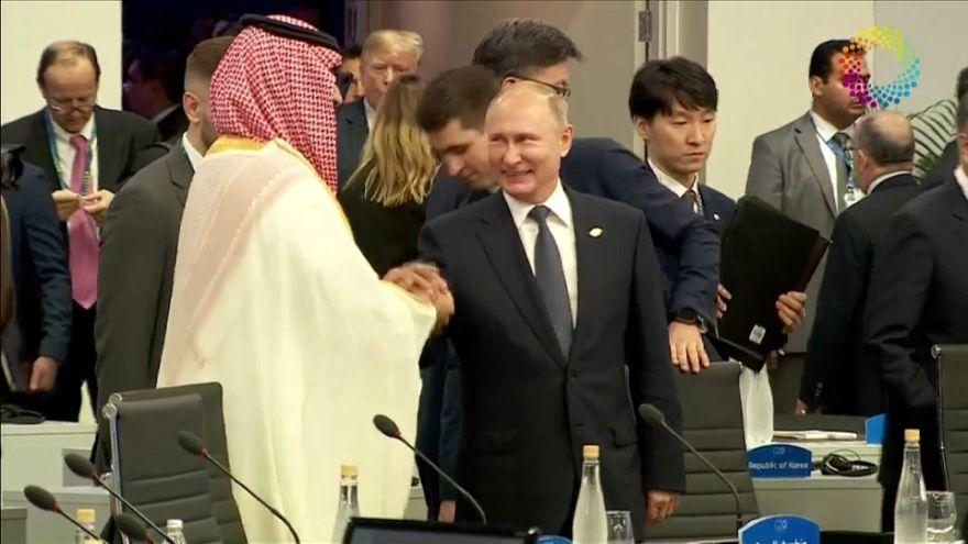 الرئيس الروسي فلاديمير بوتين وولي العهد السعودي محمد بن سلمان