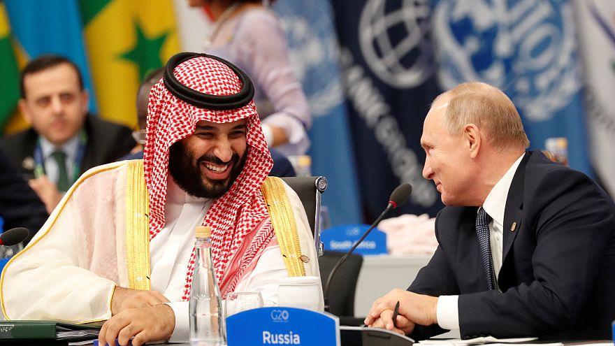 Video | G20 Zirvesi'nde Putin ile Suudi Prens Selman'dan samimi tokalaşma