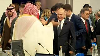 Buena sintonía entre Putin y bin Salmán al inicio del G20