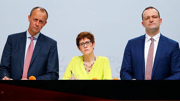 In Germania è corsa a 3 per la presidenza della Cdu
