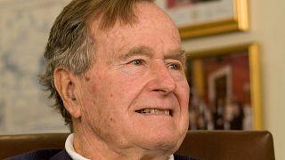Former President George H.W. Bush in Houston March 29, 2012.