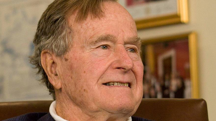 Former President George H.W. Bush in Houston March 29, 2012.