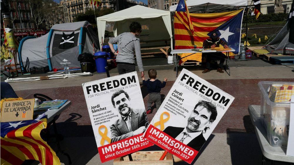 رهبران جداییطلب کاتالونیا دست به اعتصاب غذا زدند