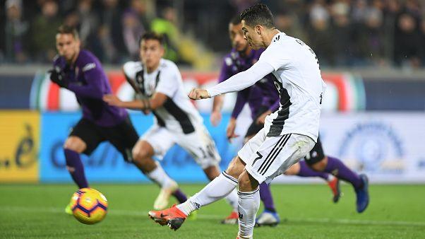 رونالدو يسجل للمباراة الخامسة على التوالي ويمنح يوفنتوس الفوز