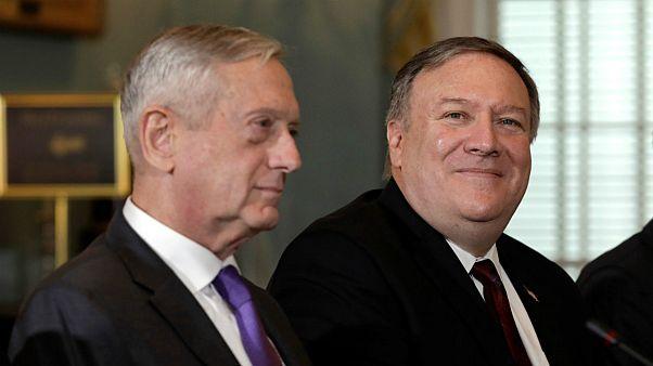 مایک پمپئو وزیر خارجه امریکا و جیمز متیس وزیر دفاع