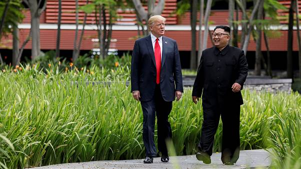 ABD Başkanı Trump ve Kuzey Kore Lideri Kim ile Singapur'da buluşmuştu