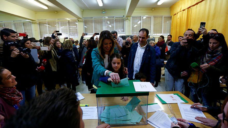 Dura caída del PSOE y fuerte ascenso de Vox en Andalucía