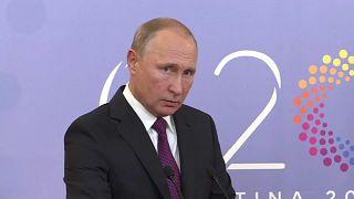 Владимир Путин на конференции в Буэнос-Айресе