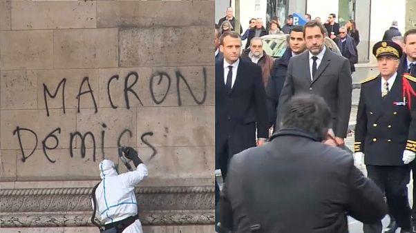 """Nach """"Gelbwesten""""-Randale: Macron startet Krisentreffen"""