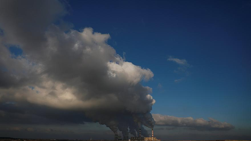 Smoke billows from Belchatow Power Station, Europe's largest coal plant