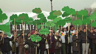 Manifestação ambientalistas em Katowice antes da COP24