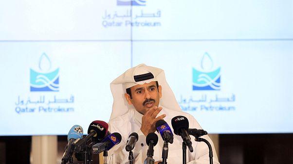سعد الكعبي وزير الطاقة القطري بالدوحة