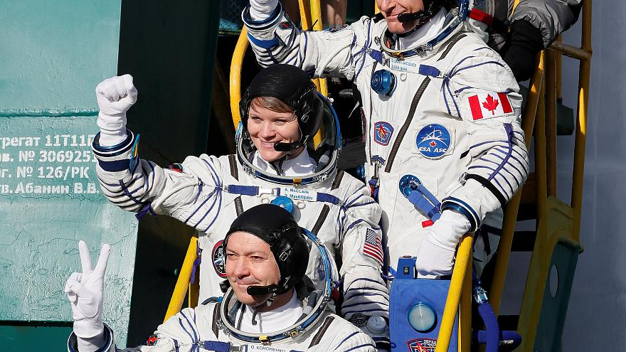 Watch again: Soyuz rocket launches to ISS with new crew