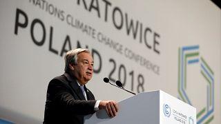 """COP24, Guterres: """"Sul cambio climatico siamo in ritardo"""""""