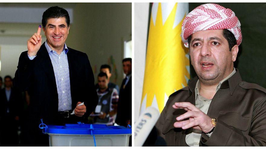 Neçirvan Barzani ve Mesrur Barzani