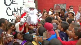 Santa Claus llega a Caracas