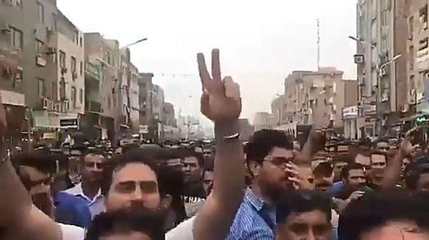 تظاهرات کارگری در اهواز