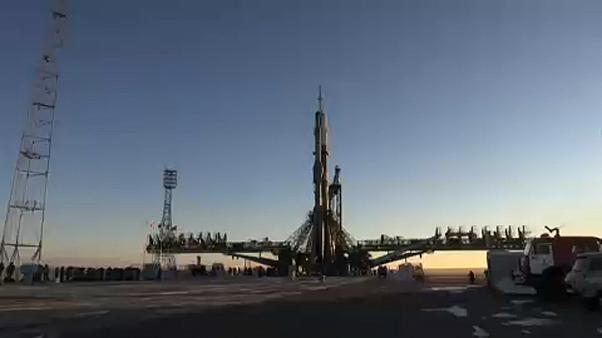 American and Canadian astronauts and Russian cosmonaut launch to the International Space Station