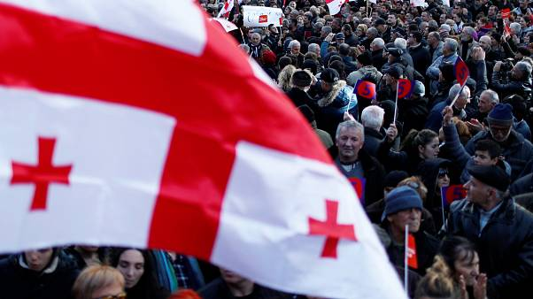 Акция протеста сторонников Михаила Саакашвили 2 декабря 2018