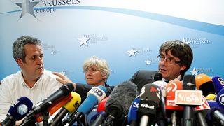 Sacked Catalan leader Carles Puigdemont and Joaquim Forn and Clara Ponsati