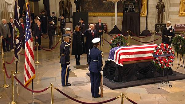 President George H.W. Bush's remains lie in state at Capitol