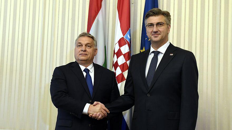 Orbán Viktor és Andrej Pleknović