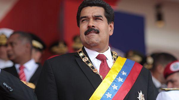 الرئيس الفنزويلي نيكولاس مادورو في حفل تنصيبه رئيسا لولاية ثانية