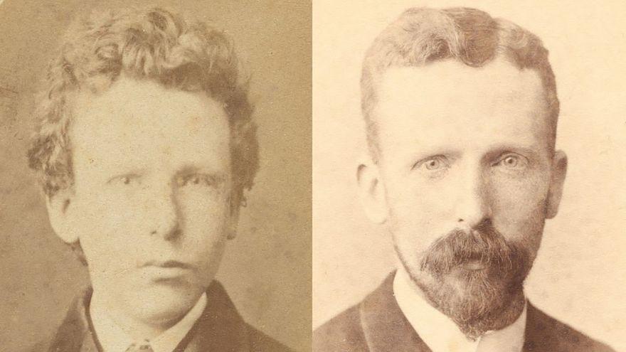 Αριστέρα ο Τεό Βαν Γκογκ σε ηλικία 15 ετών και δεξιά σε ηλικία 32 ετών.