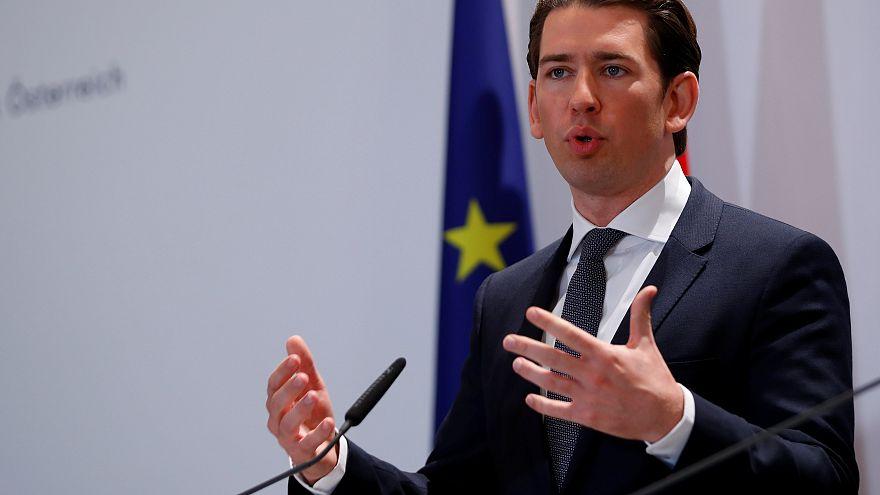 Austria's Chancellor Kurz addresses the media in Vienna
