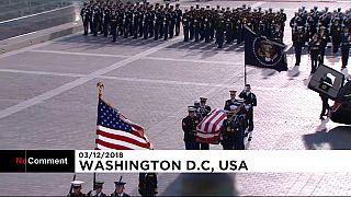 Жители США прощаются с Бушем-старшим