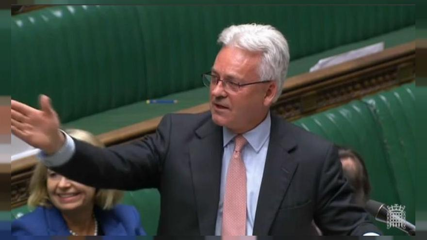 Alan Duncan speaking to the House of Commons