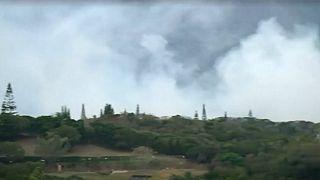 نمایی از محل وقوع زلزله    عکس: رویترز