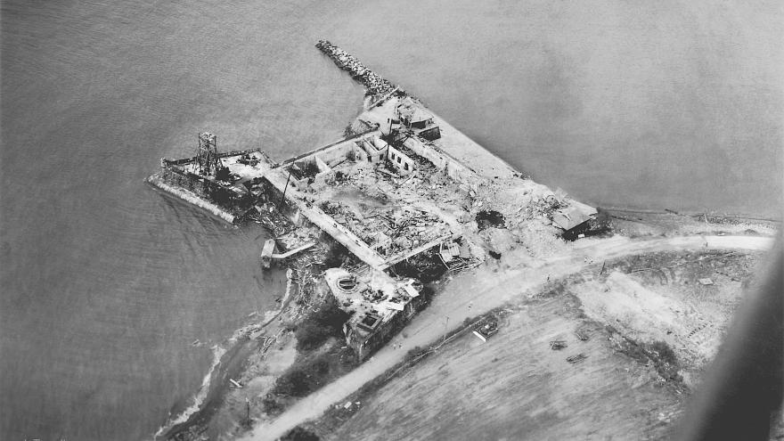 US Army 40th Division photo of old Spanish Fort San Pedro, Iloilo City