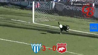Video   Sahaya giren sevimli köpek gol vuruşunu çizgiden çıkardı