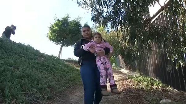 Las madres y padres coraje de la caravana de migrantes