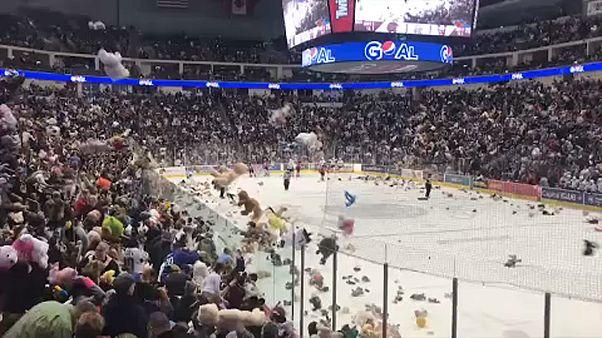 Játékmaci-rekord a hokimeccsen