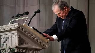 Watch: George W Bush pays tribute to his late father at state funeral