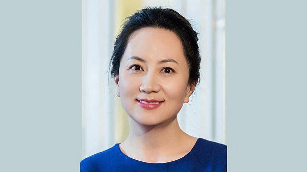 """منغ وانزهو، وهي كبيرة المسؤولين الماليين بشركة التكنولوجيا الصينية """"هواوي"""""""