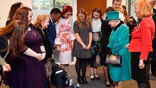 Boy so overcome when meeting the Queen he crawls away