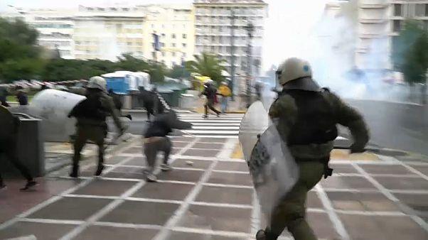 Disturbios en Atenas en recuerdo al joven Grigoropoulos