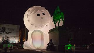 A display at the 2018 Fete des Lumieres in Lyon, France.