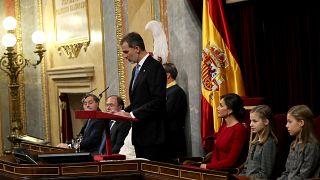 Felipe VI hace una férrea defensa de la monarquía en el 40 aniversario de la Constitución española