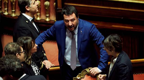 Matteo Salvini in parliament