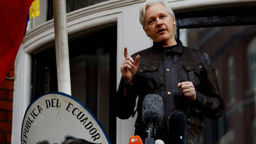 Ecuador president says there is 'path' for Assange to leave London embassy