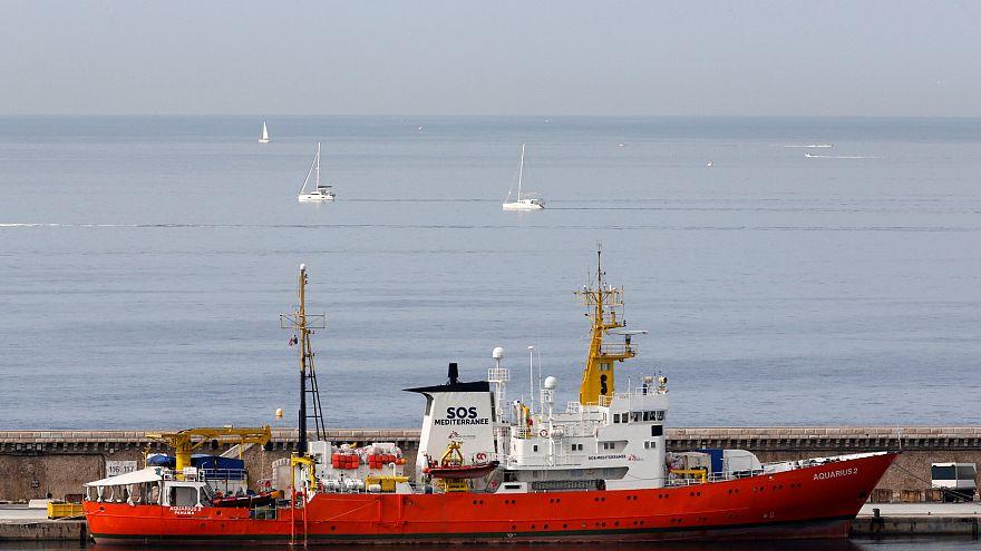 MSF'e bağlı Aquarius arama kurtarma gemisi