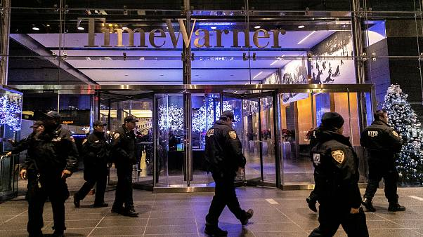 Police at the Time Warner Centre building