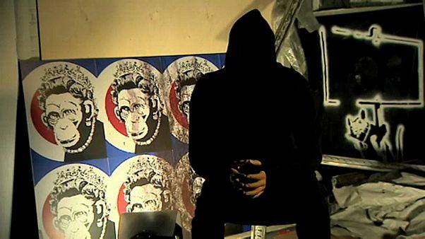 El genio vándalo de Banksy visita (sin autorización) Madrid