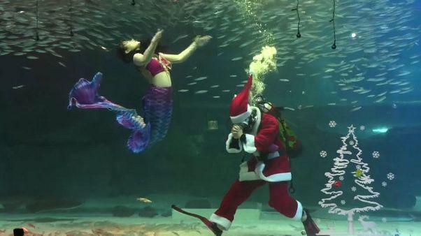Corea del Sud: Babbo Natale e la renna Rudolph versione sub