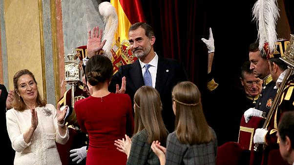 King Felipe at a ceremony marking the Constitution's 40th anniversary.