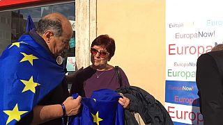 Manifestazione Lega: accoglienza a 12 stelle per Salvini
